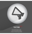 mouthpiece Flat modern web button with long shadow vector image vector image