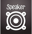 Music speaker equipment and technology vector image vector image