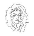outline portpait woman vector image