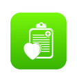 patient card icon green vector image vector image