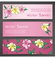 Pink Banners with Lily Flowers vector image vector image