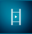 play video icon isolated on blue background vector image