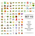 playground forest farm vector image