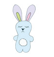 print with cute bunny toy vector image vector image