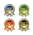 ribbons award best seller set gold ribbon award vector image vector image