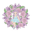 rose princess floral flower wreath vector image vector image