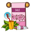 sale towel toothpaste hygiene beauty salon vector image vector image