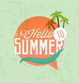 Say Hello to Summer Calligraphic Design vector image vector image