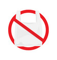 say no to plastic bags poster vector image