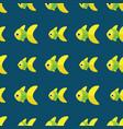 seamless fish pattern ocean or aquarium vector image vector image