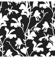 seamless pattern with magnolia tree blossom in vector image vector image