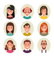 set avatars happy smiling people vector image