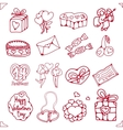 set icons for st valentines day vector image vector image