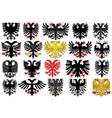set of heraldic german eagles vector image vector image