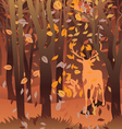 Stag in Autumn Forest vector image