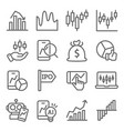 stock market icons set vector image vector image