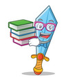 student with book sword character cartoon style vector image