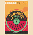 summer disco party invitation with vinyl record vector image vector image