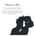 summer love black and white poster with couple vector image vector image