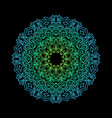 symmetric mandala future colorful gradient vector image