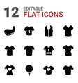 tee icons vector image vector image