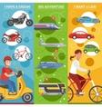 Transport Dreams Vertical Banners Set vector image vector image