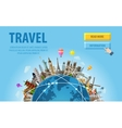 travel famous monuments of the world vector image