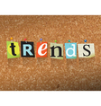 Trends Concept vector image vector image