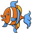 tropical fish cartoon character vector image vector image