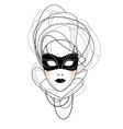 venetian mask vector image