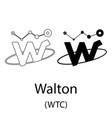 walton black silhouette vector image vector image