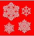 White lace snowflakes vector image