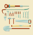 work tools set vector image