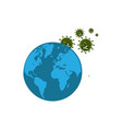 world or globe with virus vector image