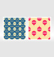 wrapping paper set seamless pattern with vector image vector image