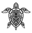 Close up Turtle Polynesian Tattoo vector image