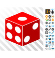 dice cube cards with bonus vector image