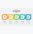 5 steps timeline infographic template with arrows vector image