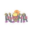 aloha with skull vector image