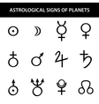 astrology planets vector image