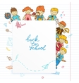 background with look out banner kids vector image
