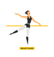 ballet class ballerina dancing in dance studio vector image