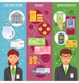 Bank Employees Vertical Banners vector image vector image