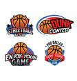 basketball badge design vector image vector image