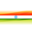 beautiful indian flag background vector image