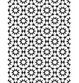 black and white moroccan motif tile pattern vector image