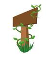blank wooden signpost vector image vector image