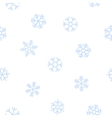 Blue seamless background of snowflakes vector image vector image