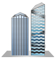 Building model sample new design vector image vector image