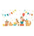 bulldog bull terrier corgi and spitz characters vector image